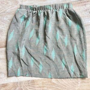 Dresses & Skirts - 100% Silk Vintage Printed Mini Skirt!